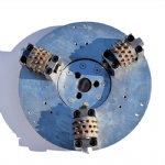 125mm Diamond Bush Hammer tool plate with 3 rollers