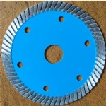 Wide Narrow Teeth Turbo Blades For Granite and Concrete